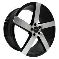 Кованый колесный диск Vissol V-080R Black with Machined Face 8,5x19 5x120 ET15 D74,1