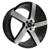Кованый колесный диск Vissol V-080L Black with Machined Face 8,5x19 5x120 ET15 D74,1