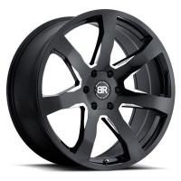 Литой колесный диск Black Rhino Mozambique Gloss Black With Milled Spokes 10,0x24 5x150 ET30 D110,1
